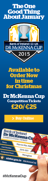 McKenna Cup 2015 Season Ticket