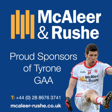 Design and build construction, property management by McAleer and Rushe. Official Tyrone GAA Sponsors.