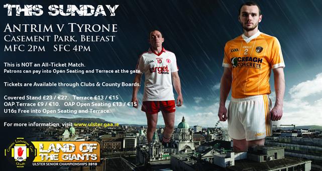 Tyrone v Antrim – Match Info