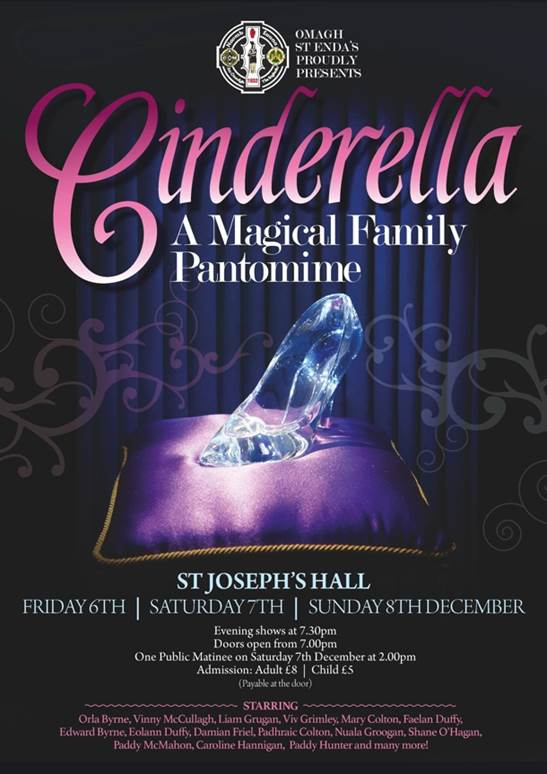 Omagh St Enda's Panto – Cinderella 6th-8th December