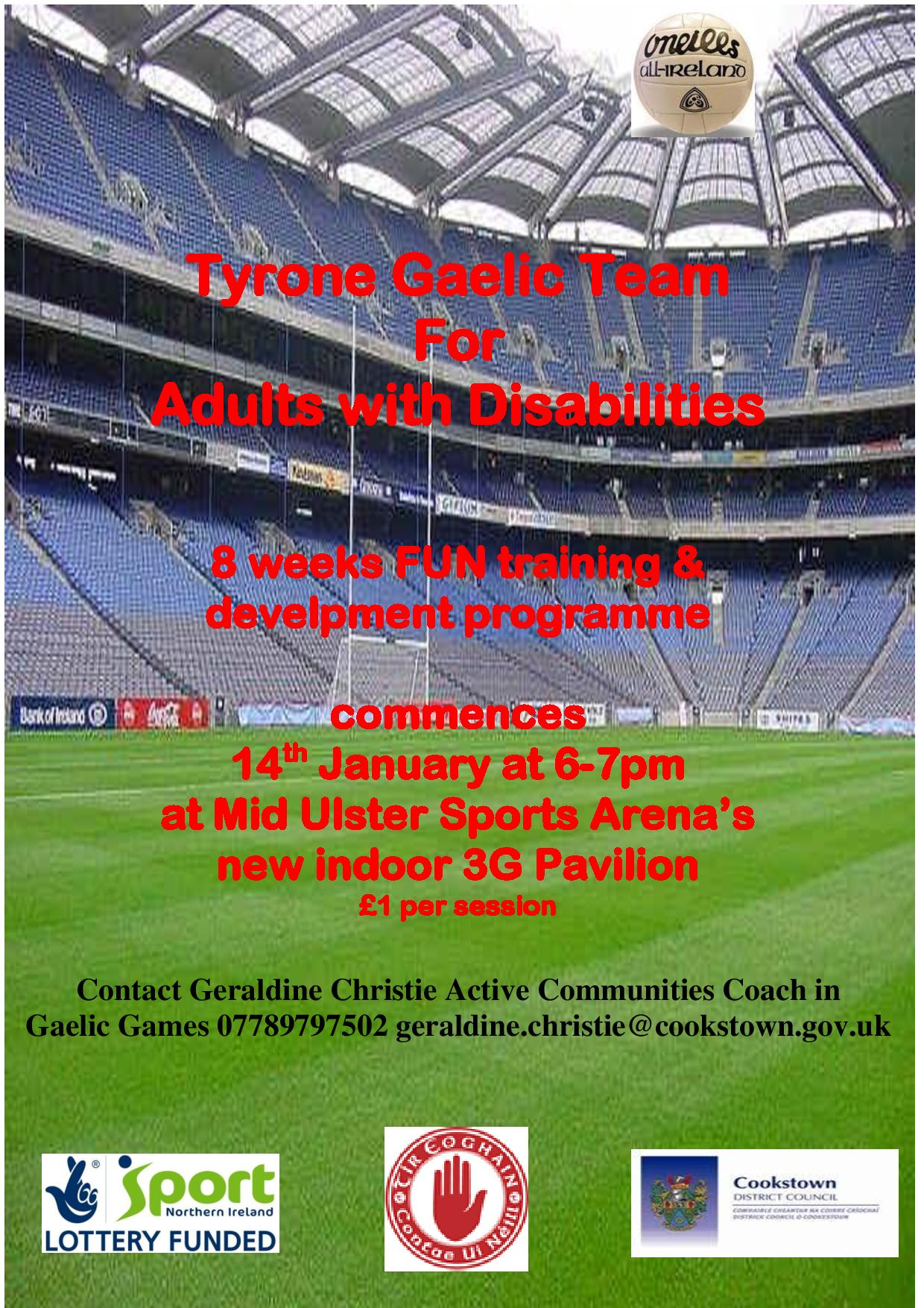 Gaelic Football for Adults with Disabilities