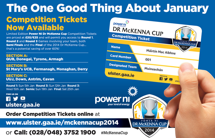 The one good thing about January… The 2014 Power NI Dr McKenna Cup