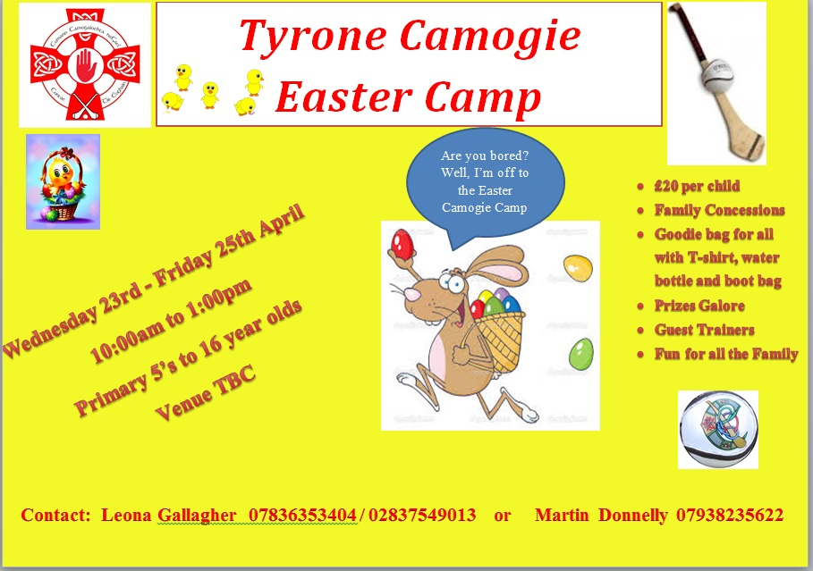 Camogie News / Easter Camp 23-25 April