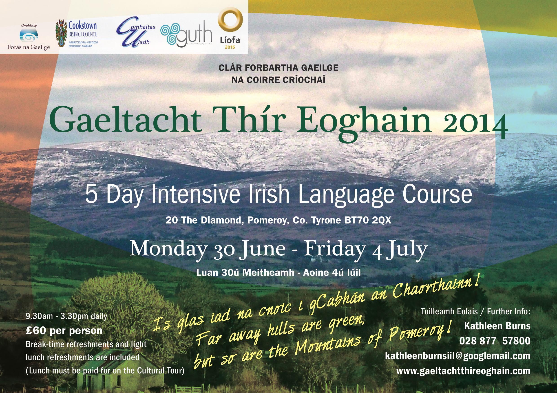 Gaeltacht Thír Eoghain 2014 30 June to 4 July