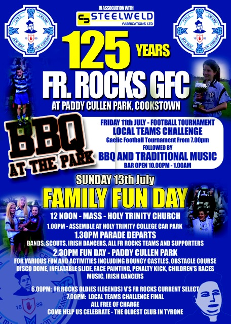 Cookstown Fr Rocks 125 celebrations