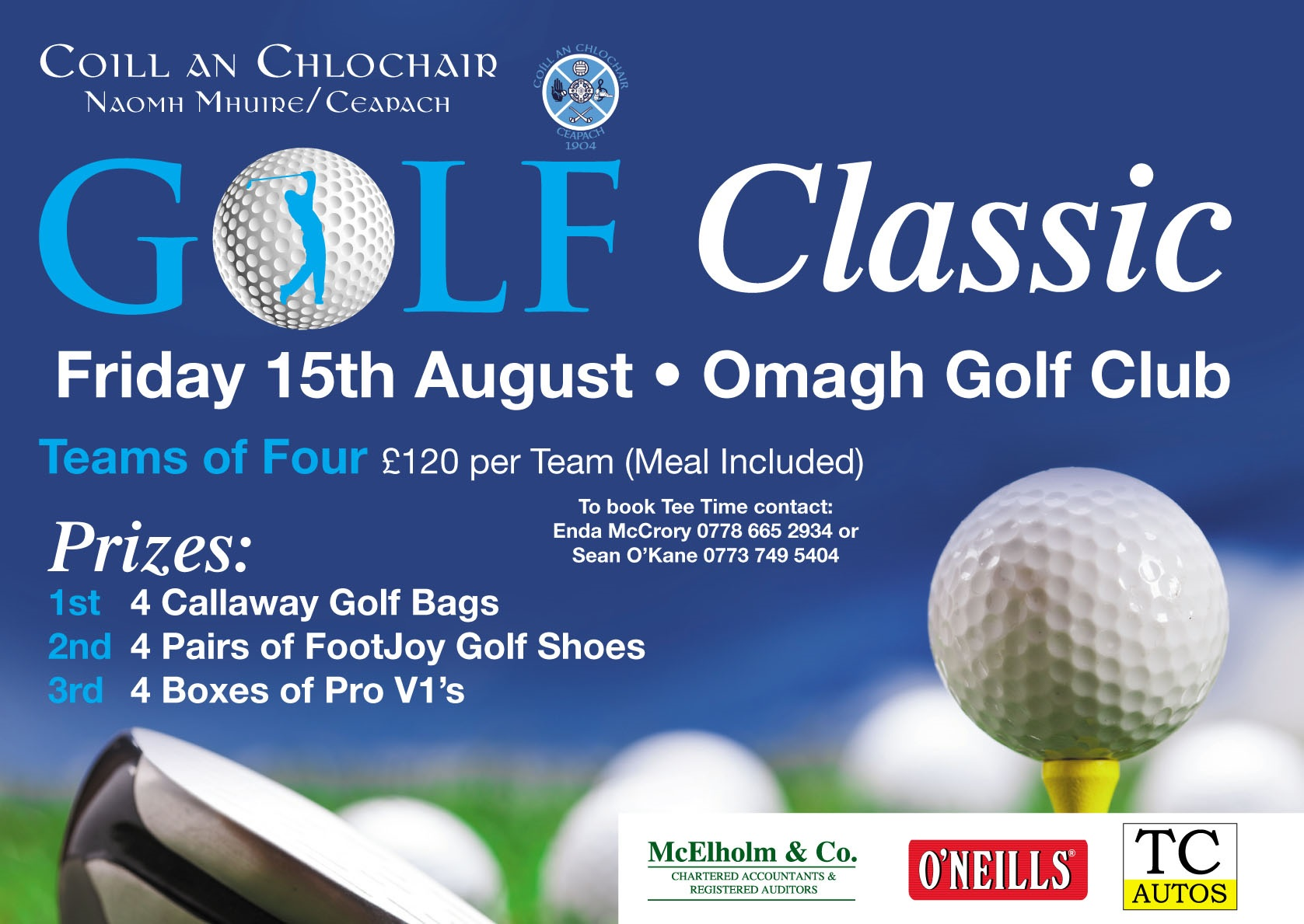 Killyclogher St Mary's Golf Classic 15 August