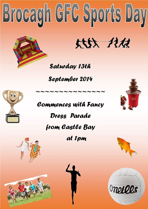 Brocagh GFC Sports Day – Saturday 13th September