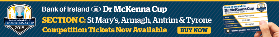 Bank of Ireland Dr. McKenna Cup 2015 Group C