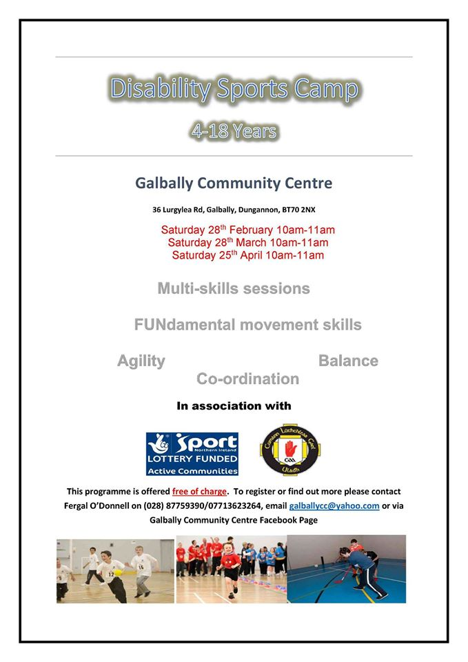 Disability Sports Camp in Galbally