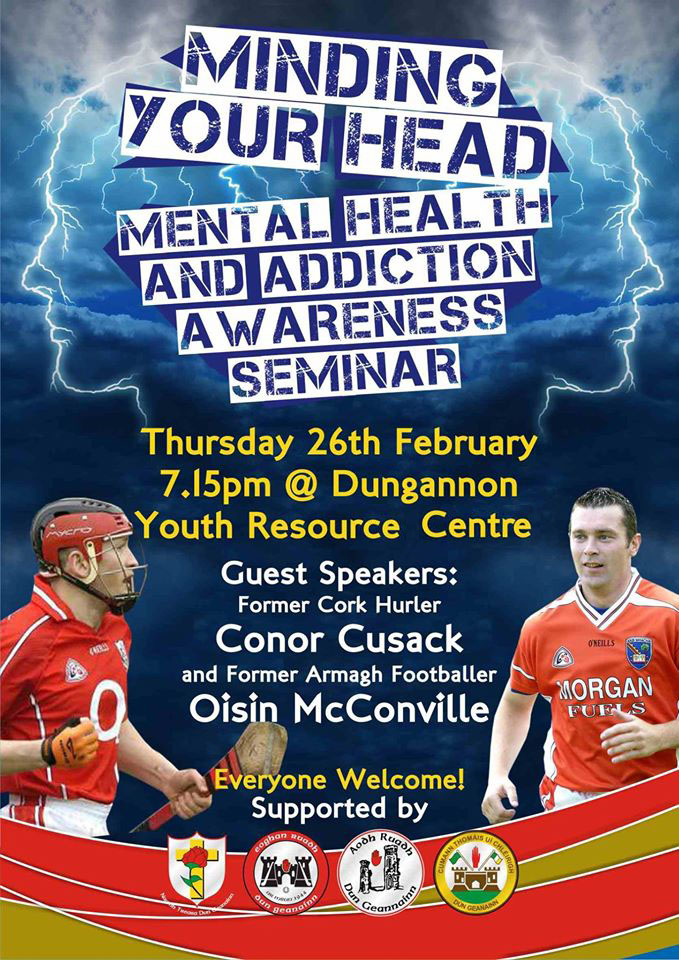 Mental Health and addiction seminar this Thursday in Dungannon