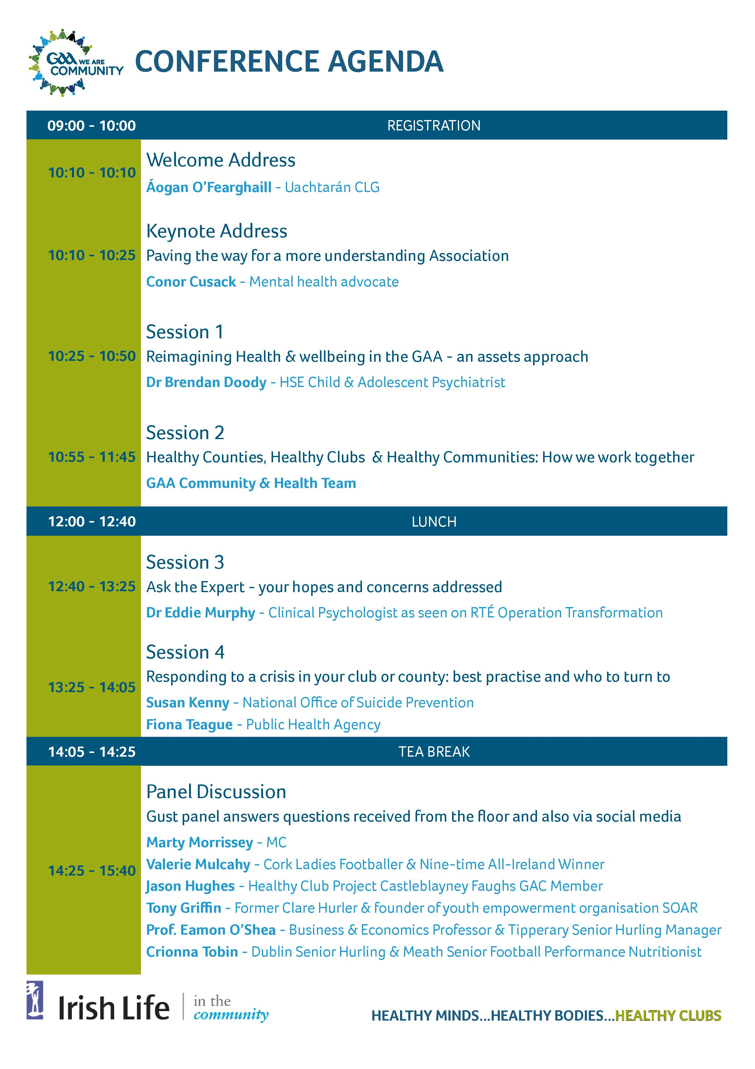 GAA National Health & Wellbeing Conference