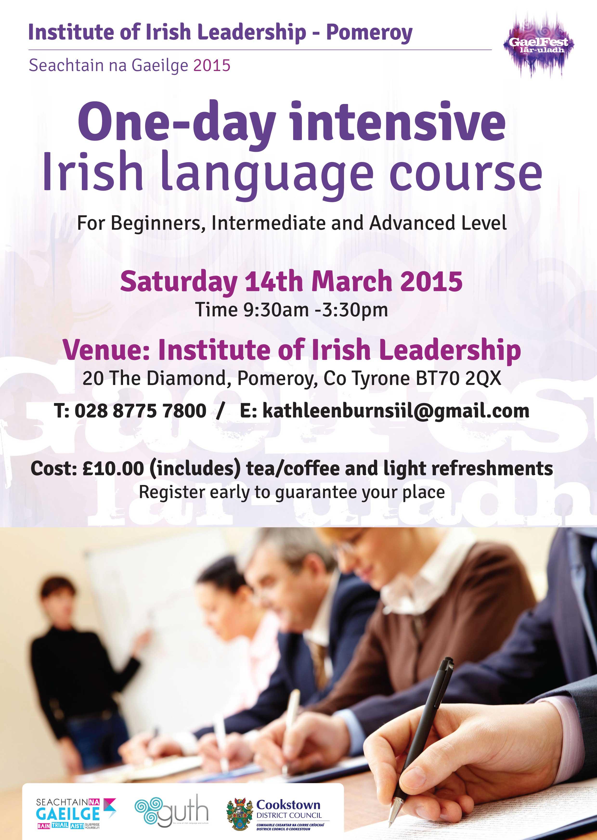 Irish Language Course this Saturday