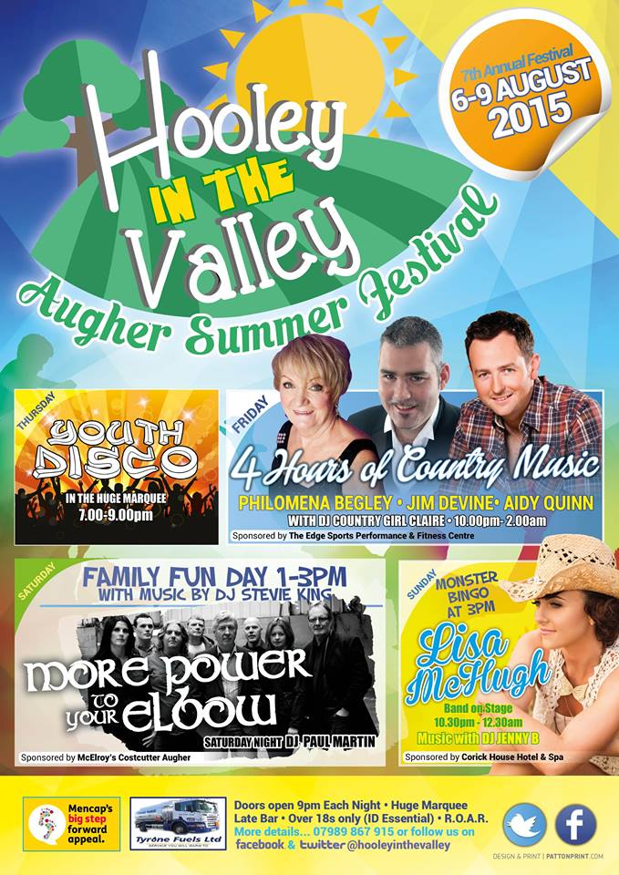 Augher's Hooley in the Valley 6th -9th August