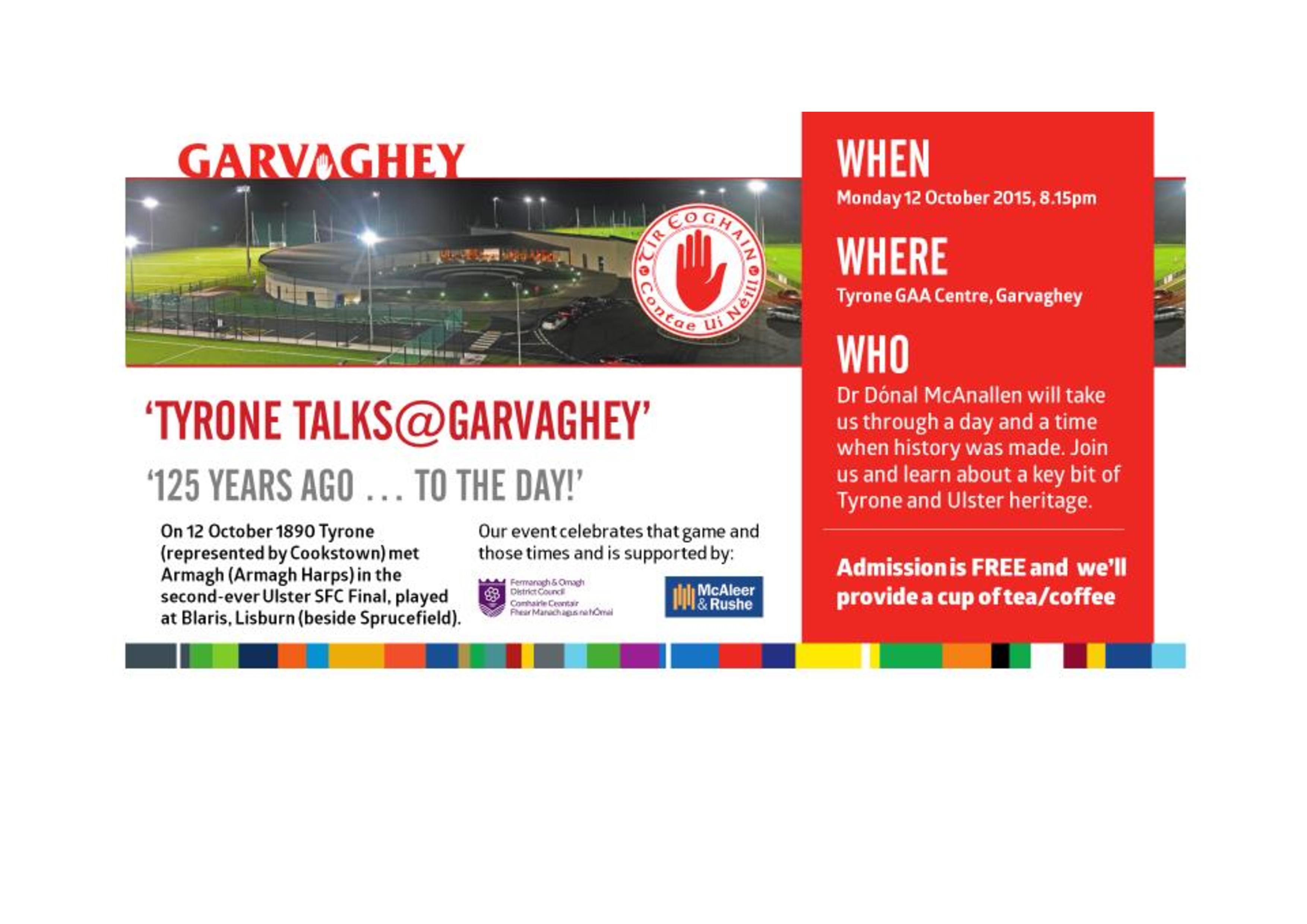Tyrone Talks @ Garvaghey