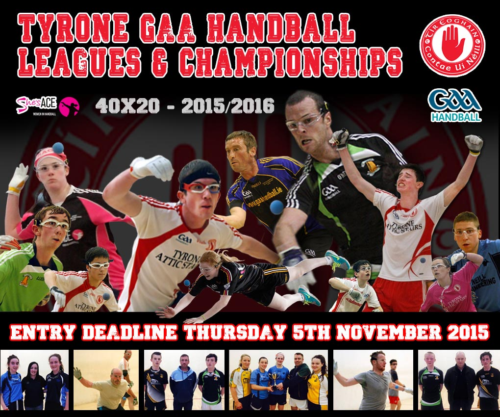 Tyrone GAA Handball Leagues deadline Thursday