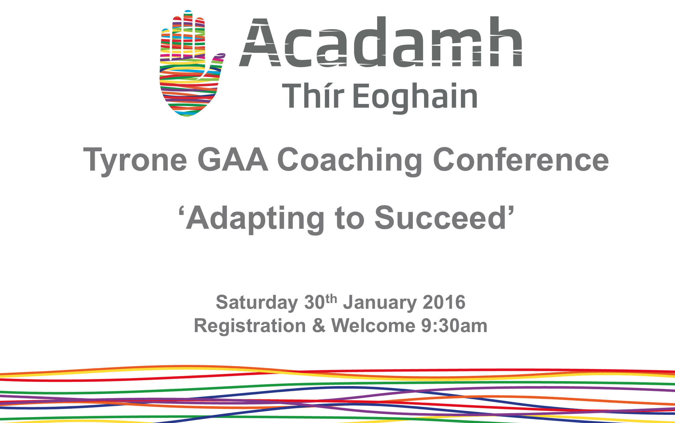 Coaching Conference this Saturday!