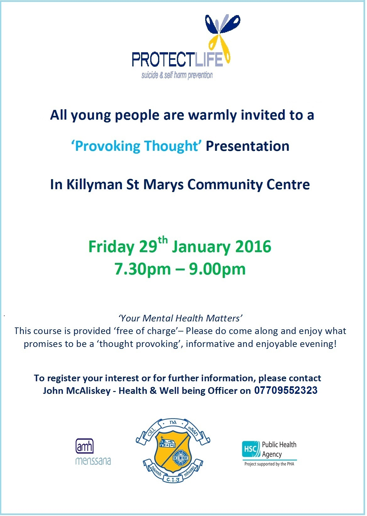 Mental Health Talks in Killyman