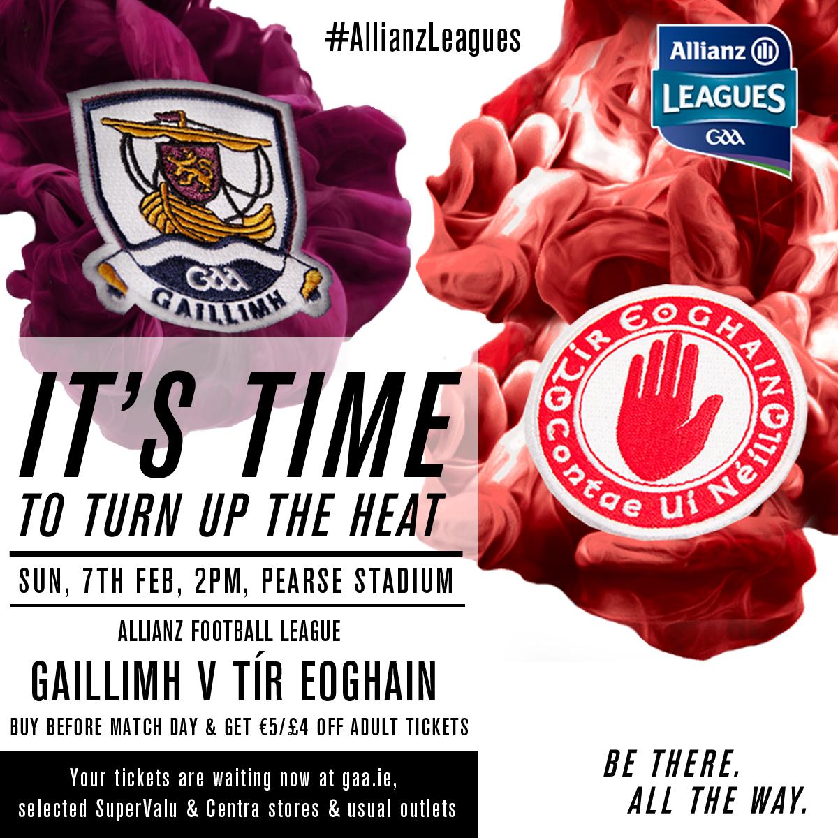 Tyrone Team v Galway Allianz Football League 7th Feb 2016