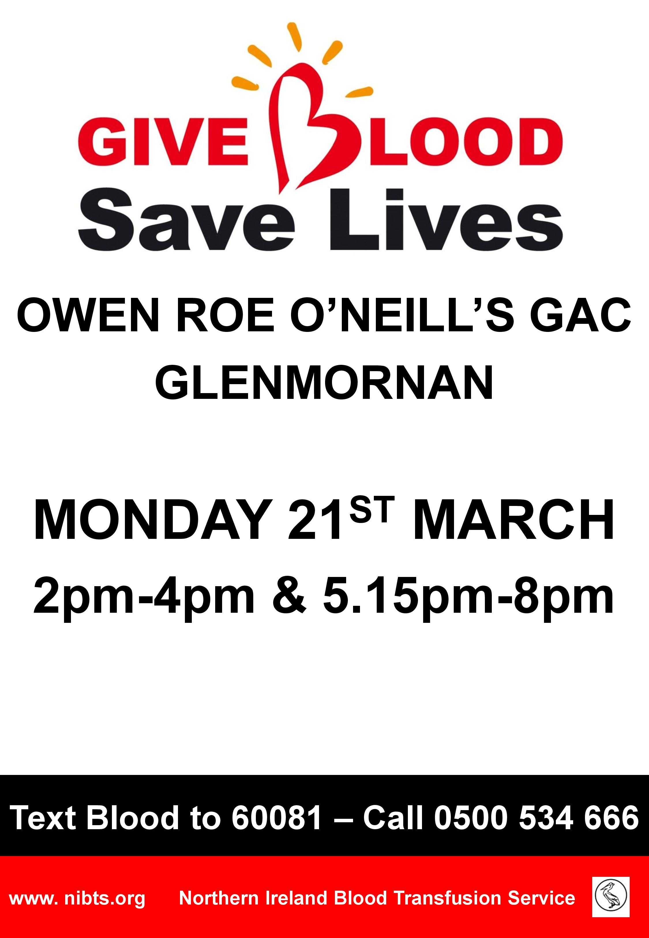 Owen Roes – Blood Donation Session