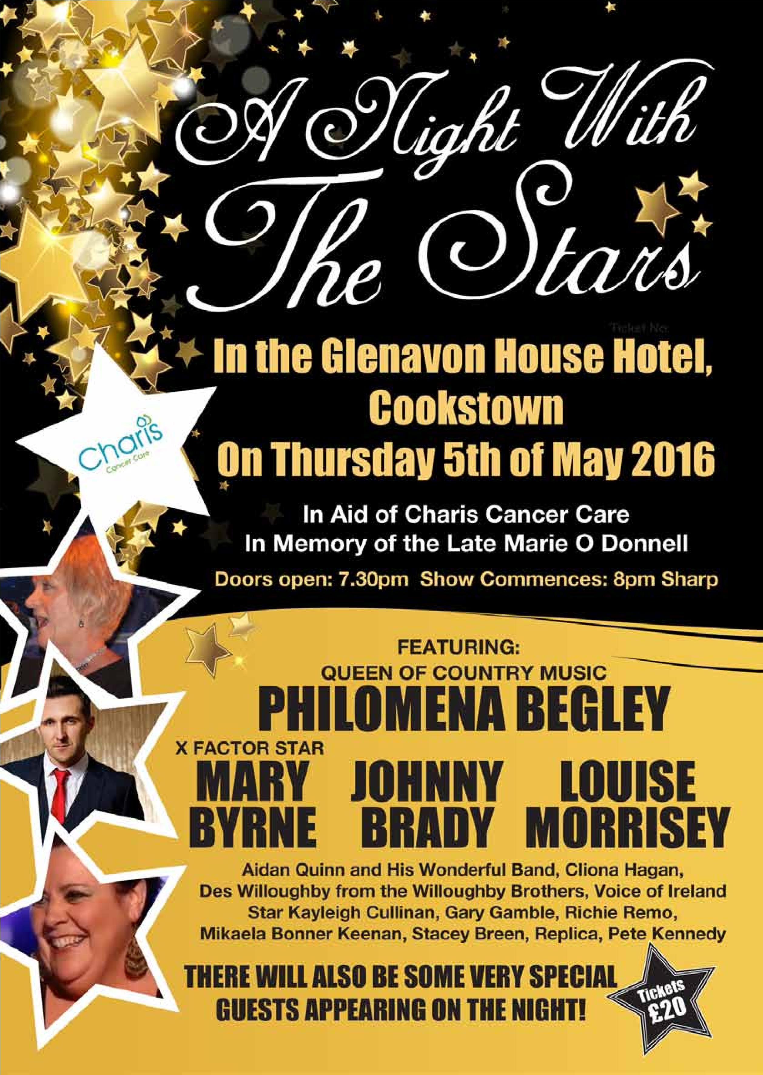 A night with the Stars Charity Concert Thursday 5th May