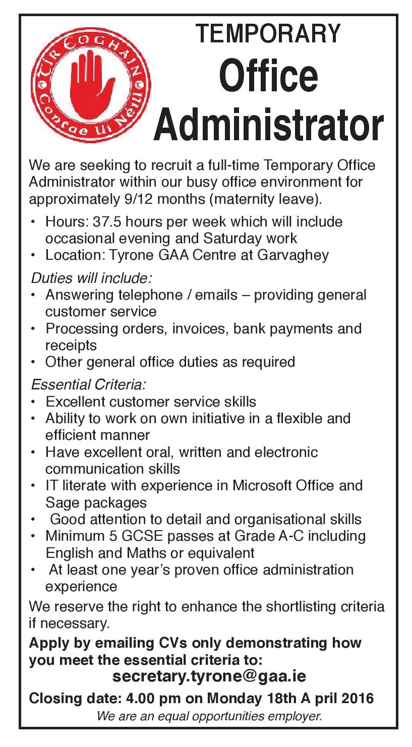 Office Administrator required