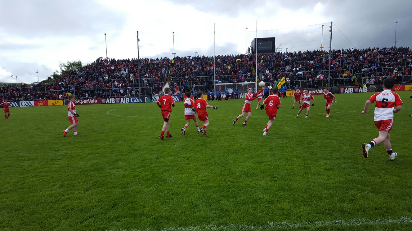 Allianz Cumann na mBunscol Thír Eoghain –Half-Time Mini Games: Derry v Tyrone