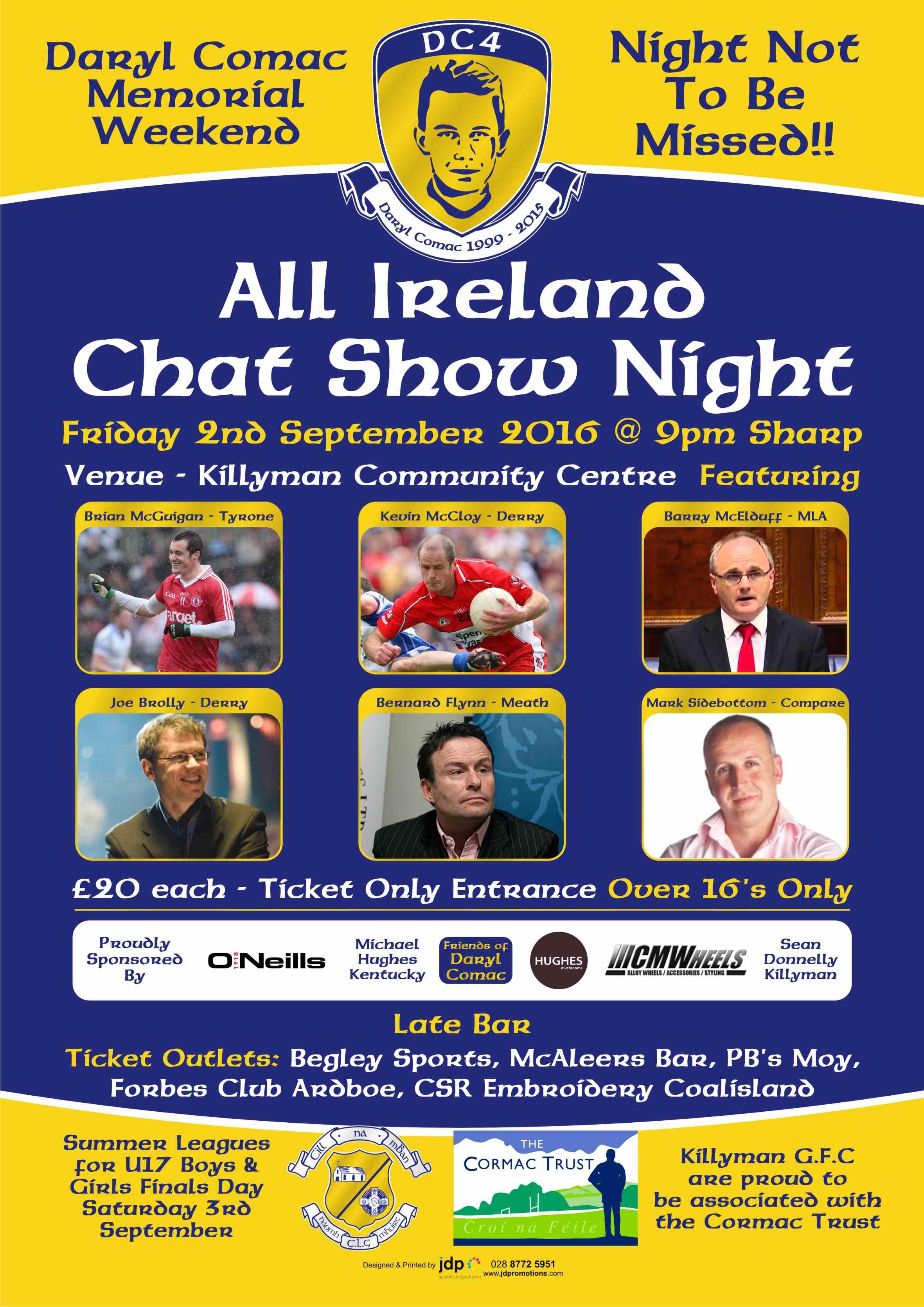 All Ireland Chat Night in Killyman