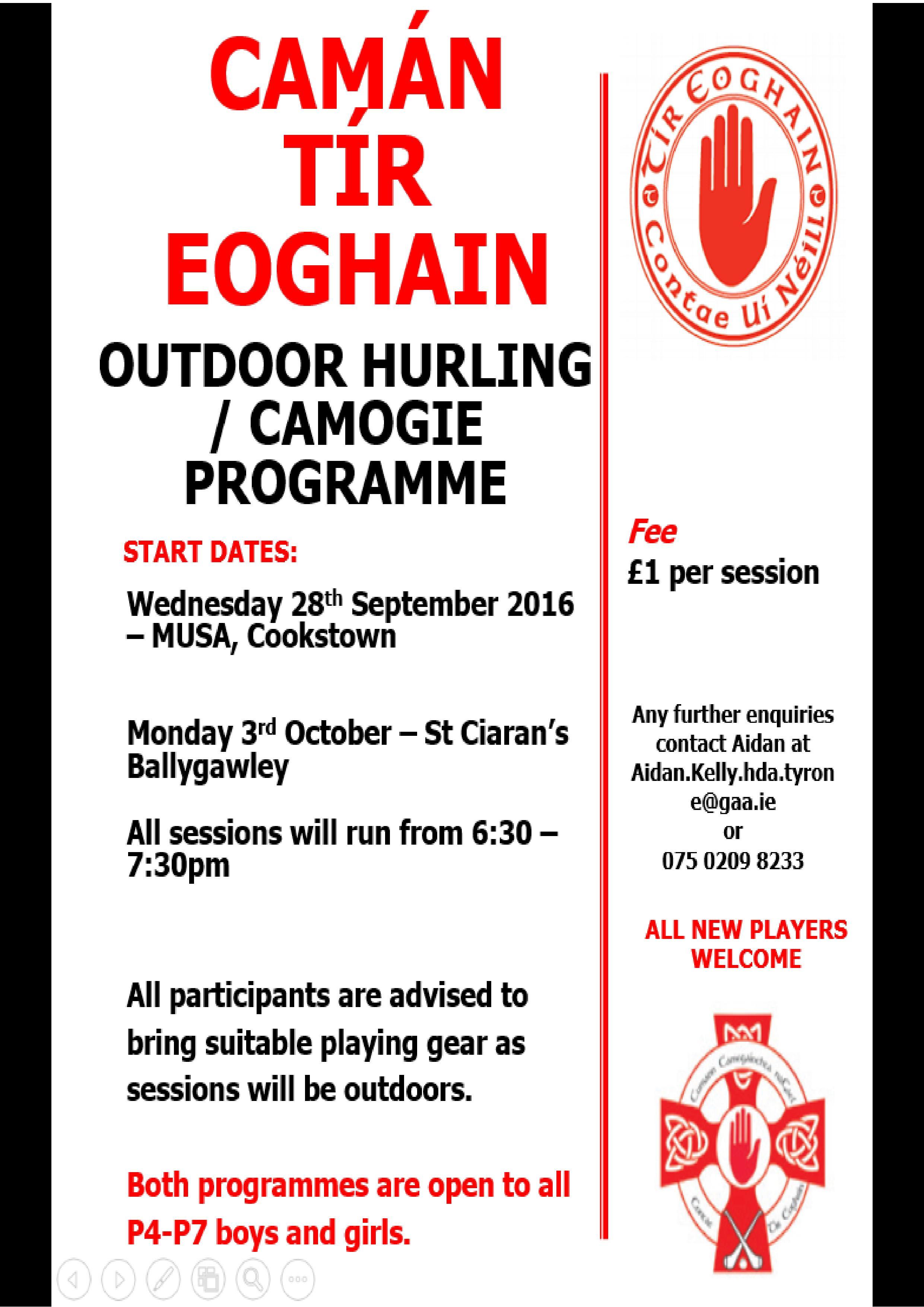 Camán Tír Eoghain returns in Cookstown