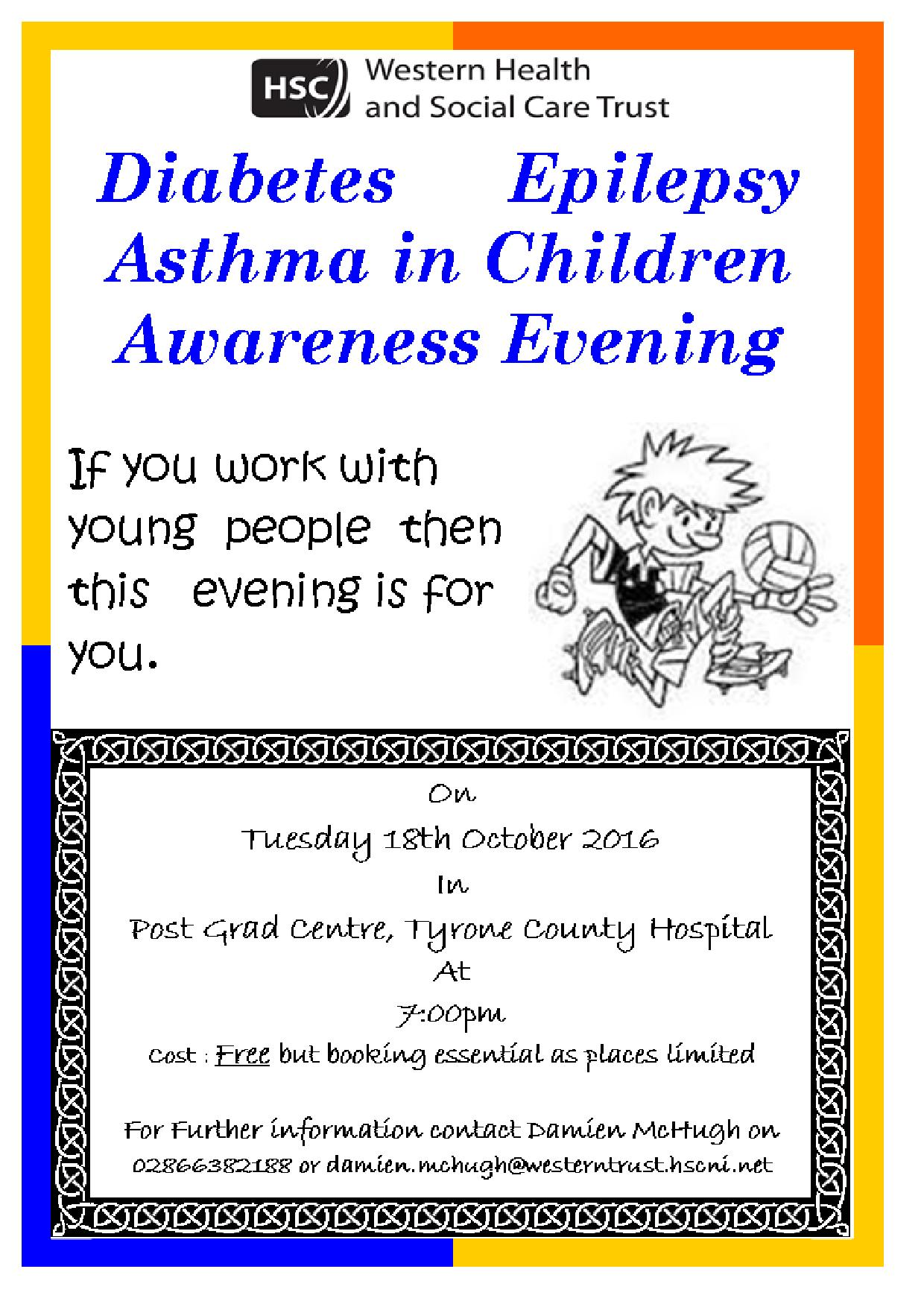 Diabetes, Epilepsy & Asthma in Children Awareness event