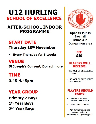 Under 12 School of Excellence continues