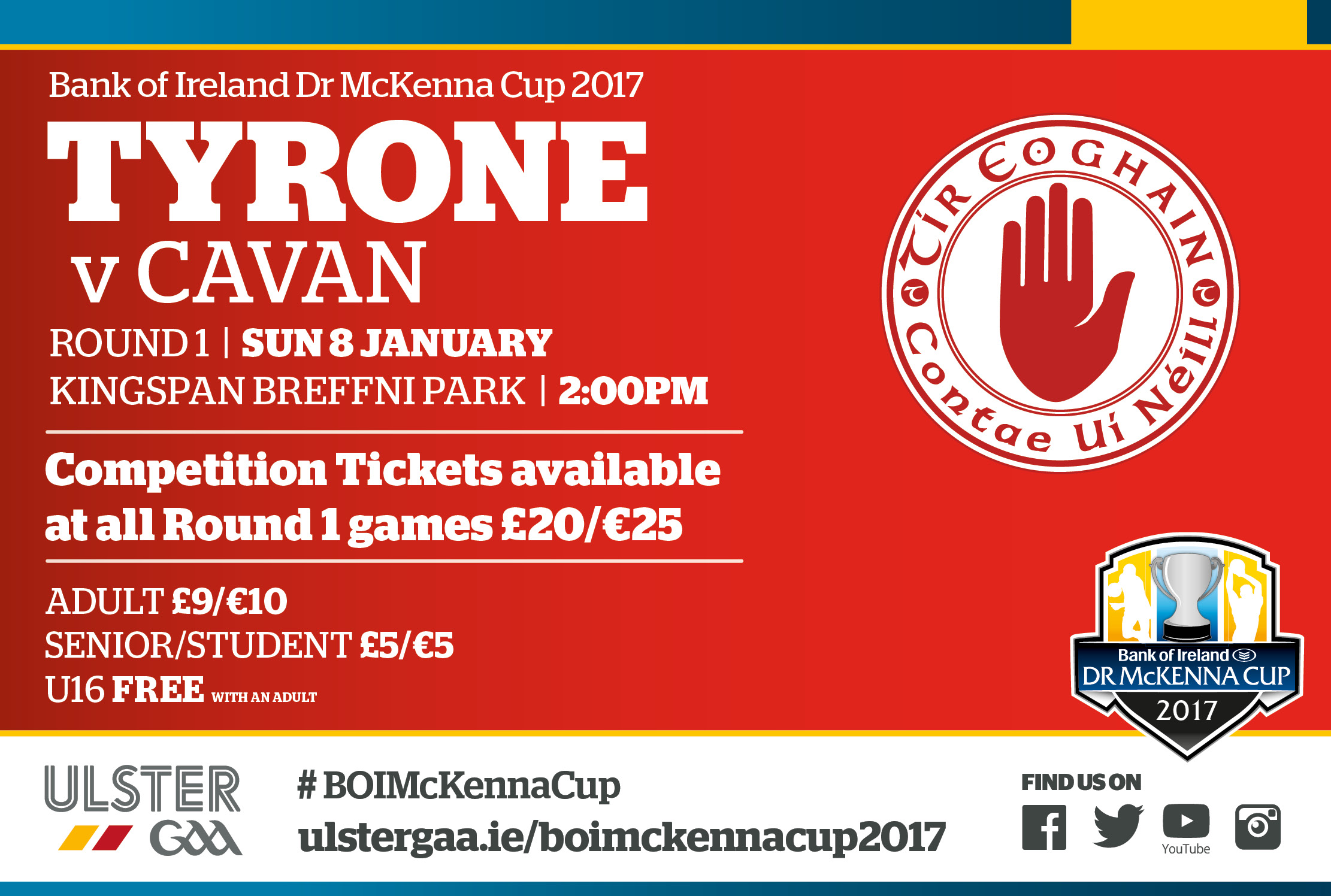 Tyrone Team v Cavan BOI Dr McKenna Cup