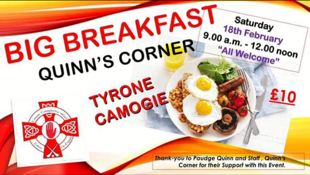 Tyrone Camogie to host Big Breakfast this Saturday