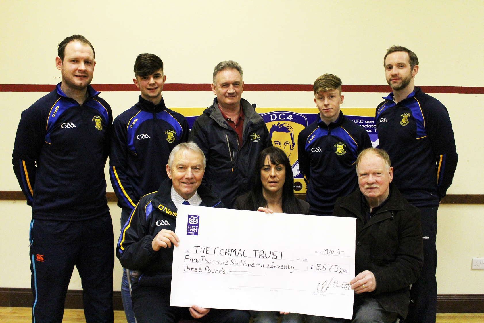 Killyman present cheque to Cormac Trust