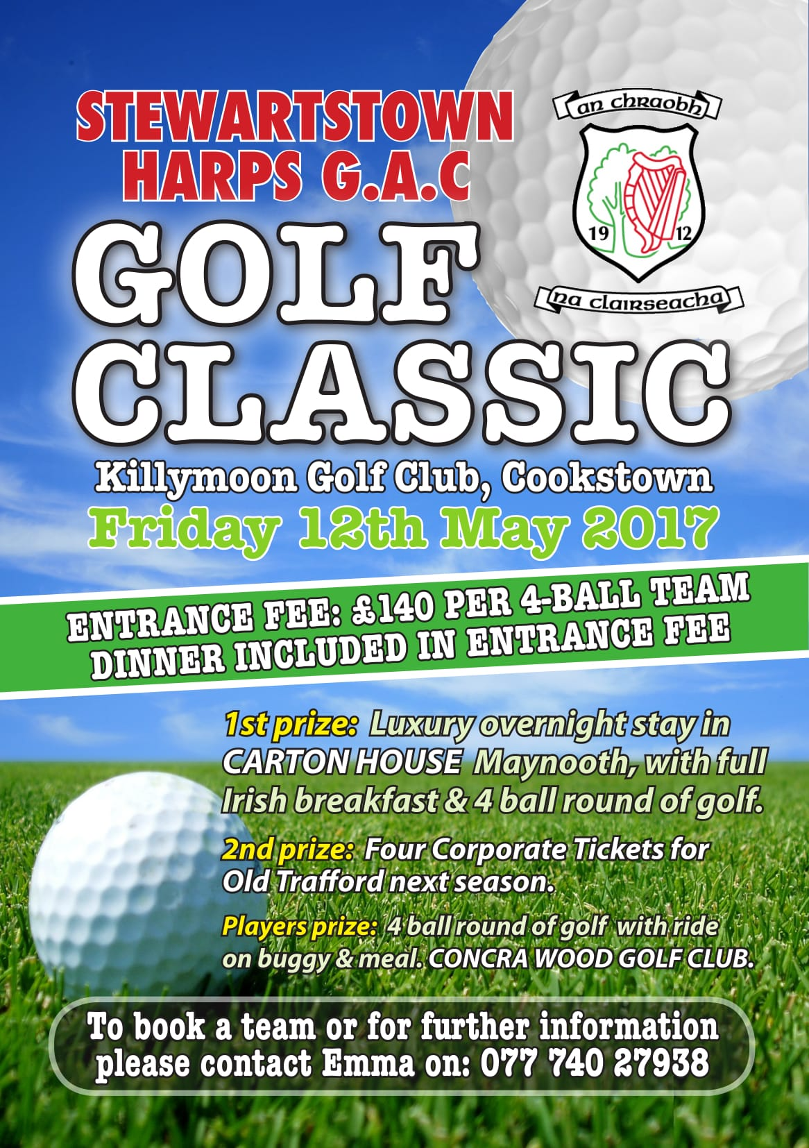 Stewartstown Harps Golf day – Friday 12th May