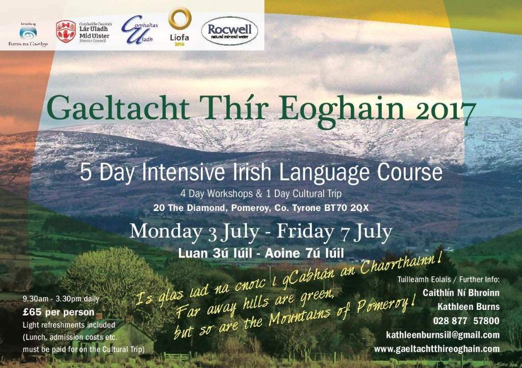 Irish Language events Summer 2017