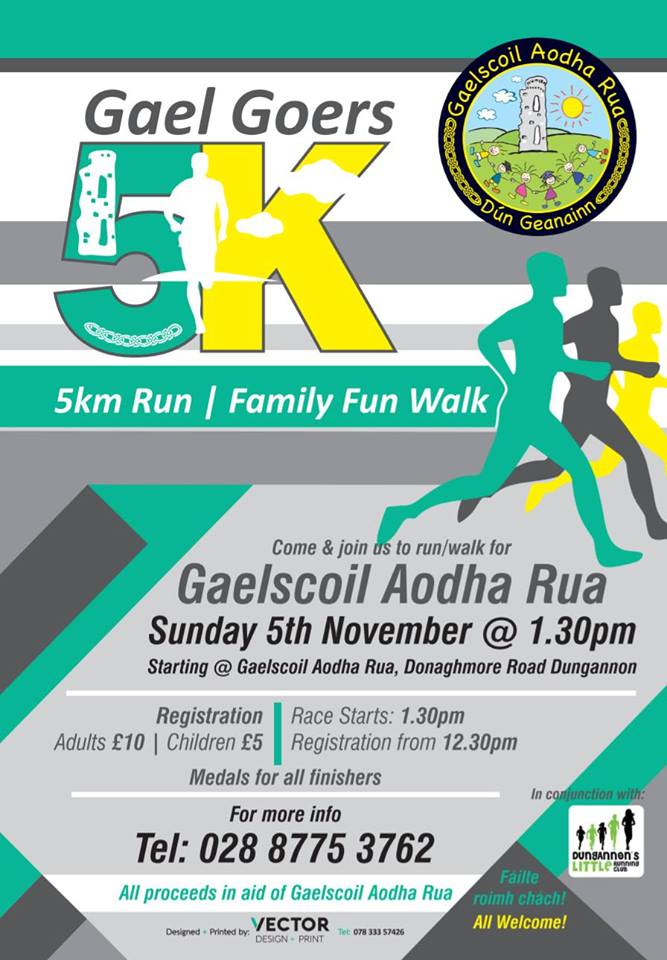 Gael Goers 5km – Sunday 5th November