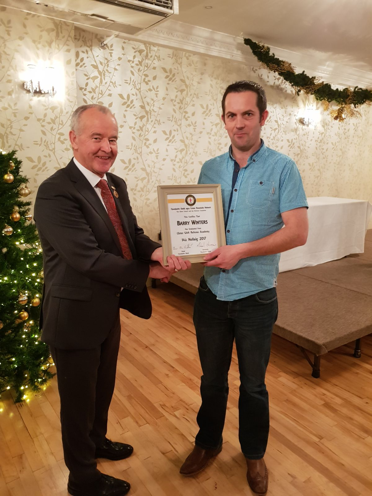 Referees honoured at Ulster level