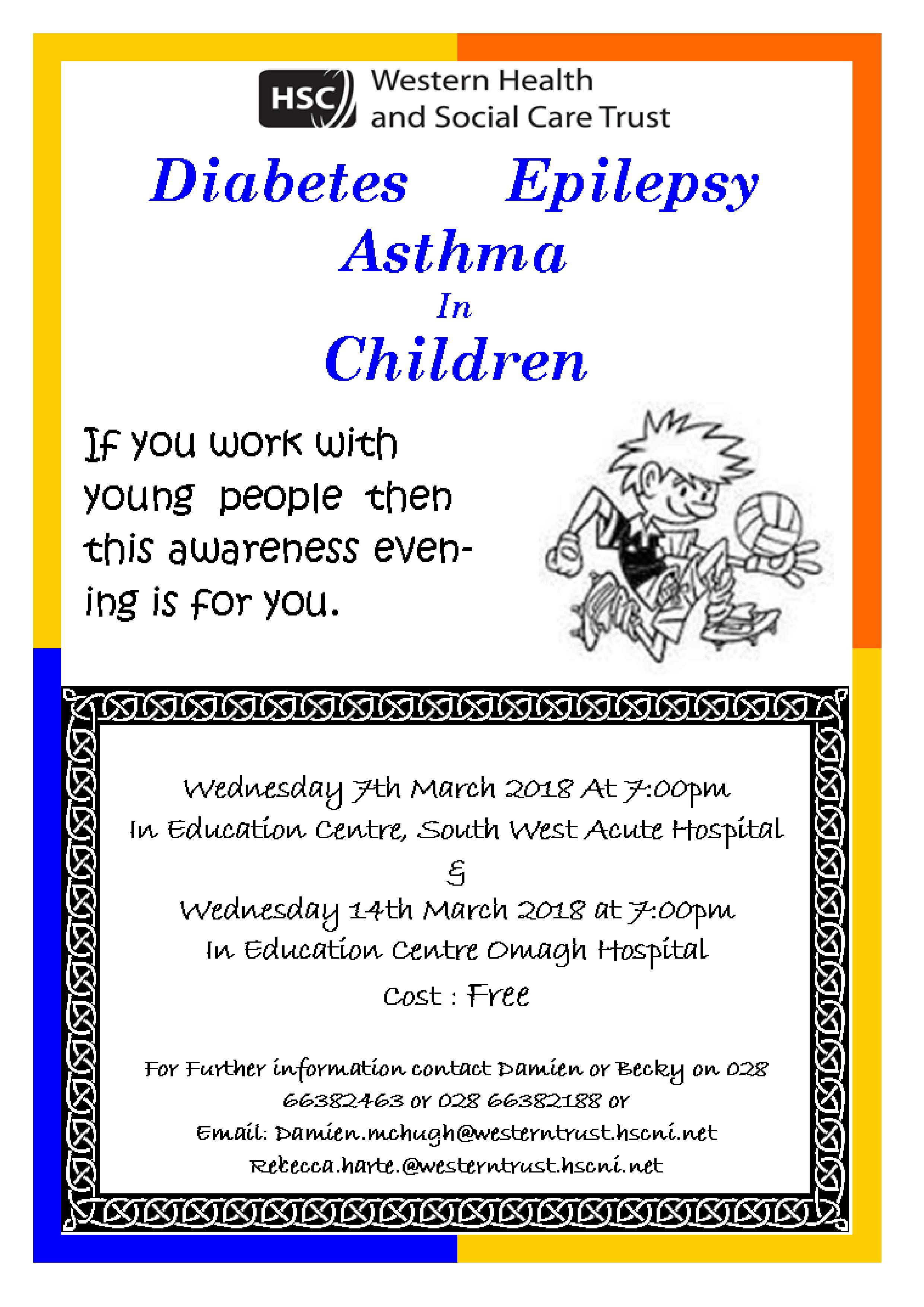 Awareness Evening on Diabetes Asthma and Epilepsy in children