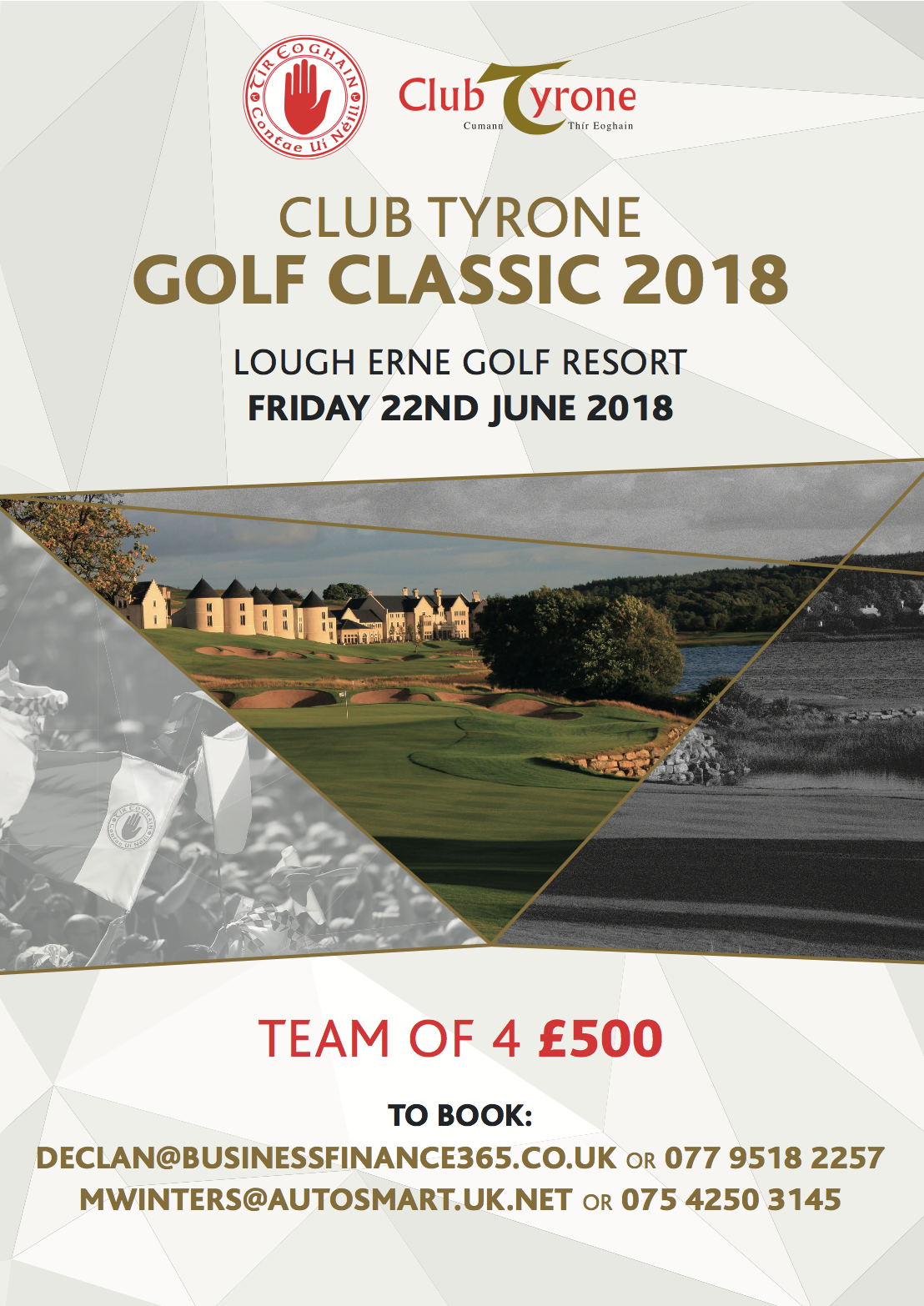Club Tyrone Golf Day : 22nd June : Lough Erne