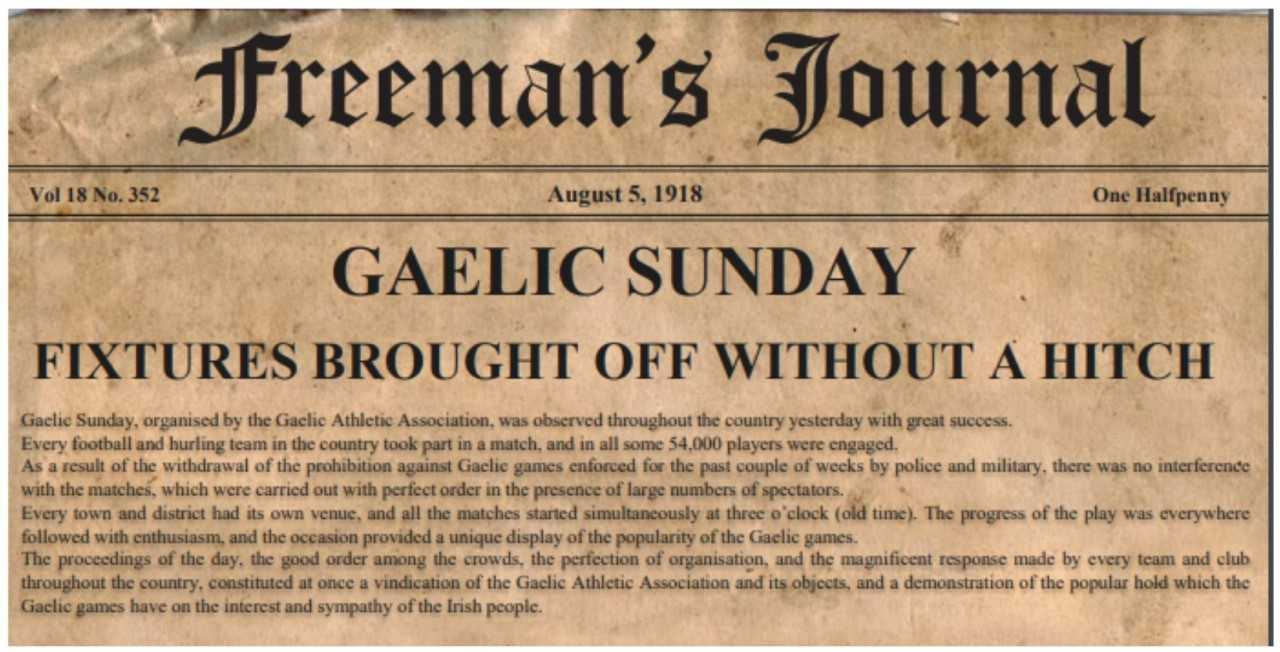 Gaelic Sunday Centenary