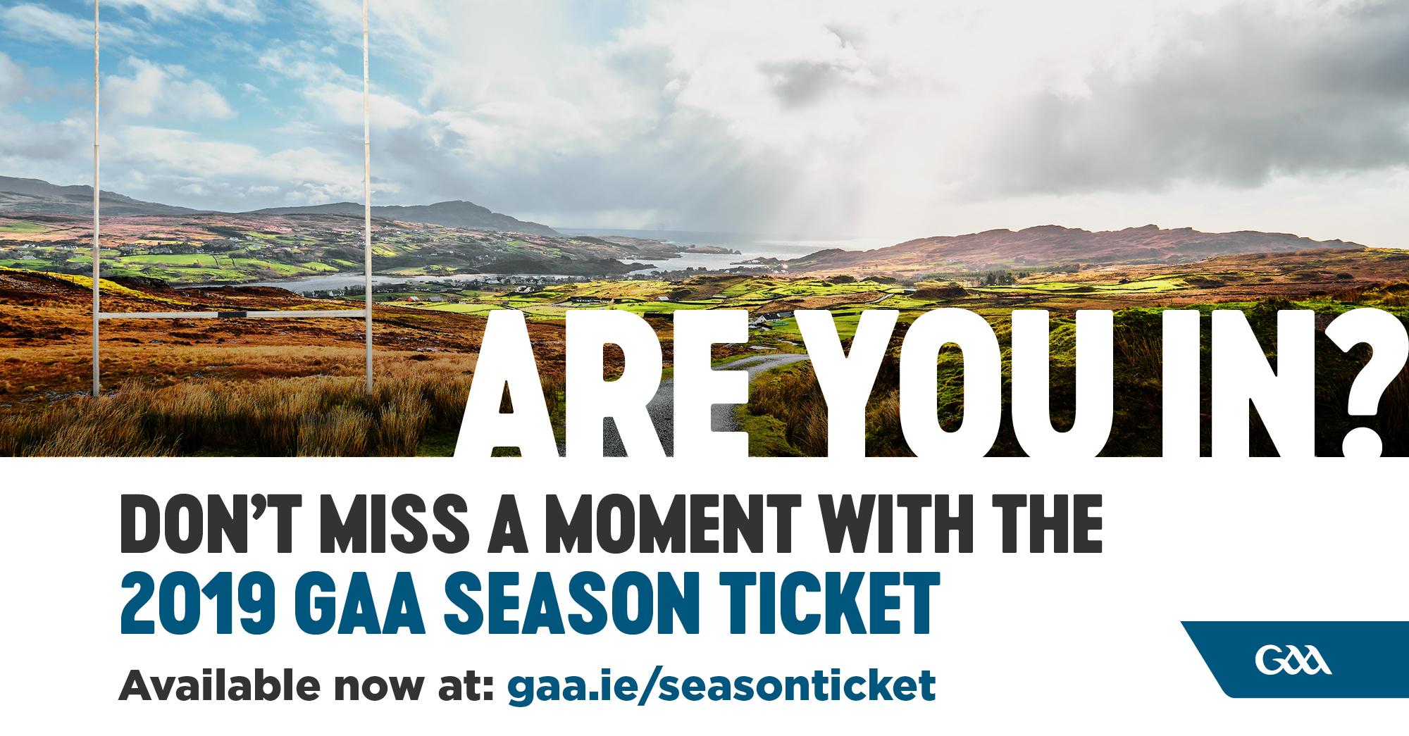 GAA Season Ticket 2019