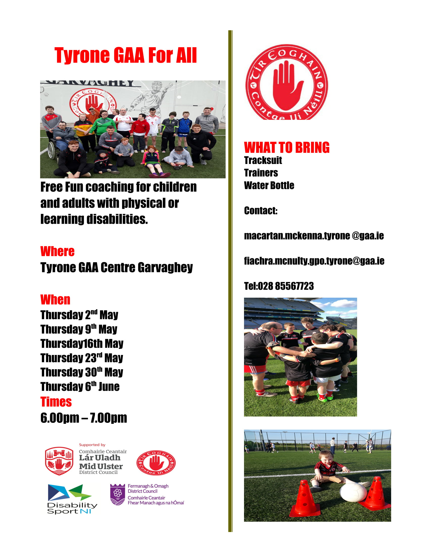 GAA Coaching for All Opportunity (See Details)