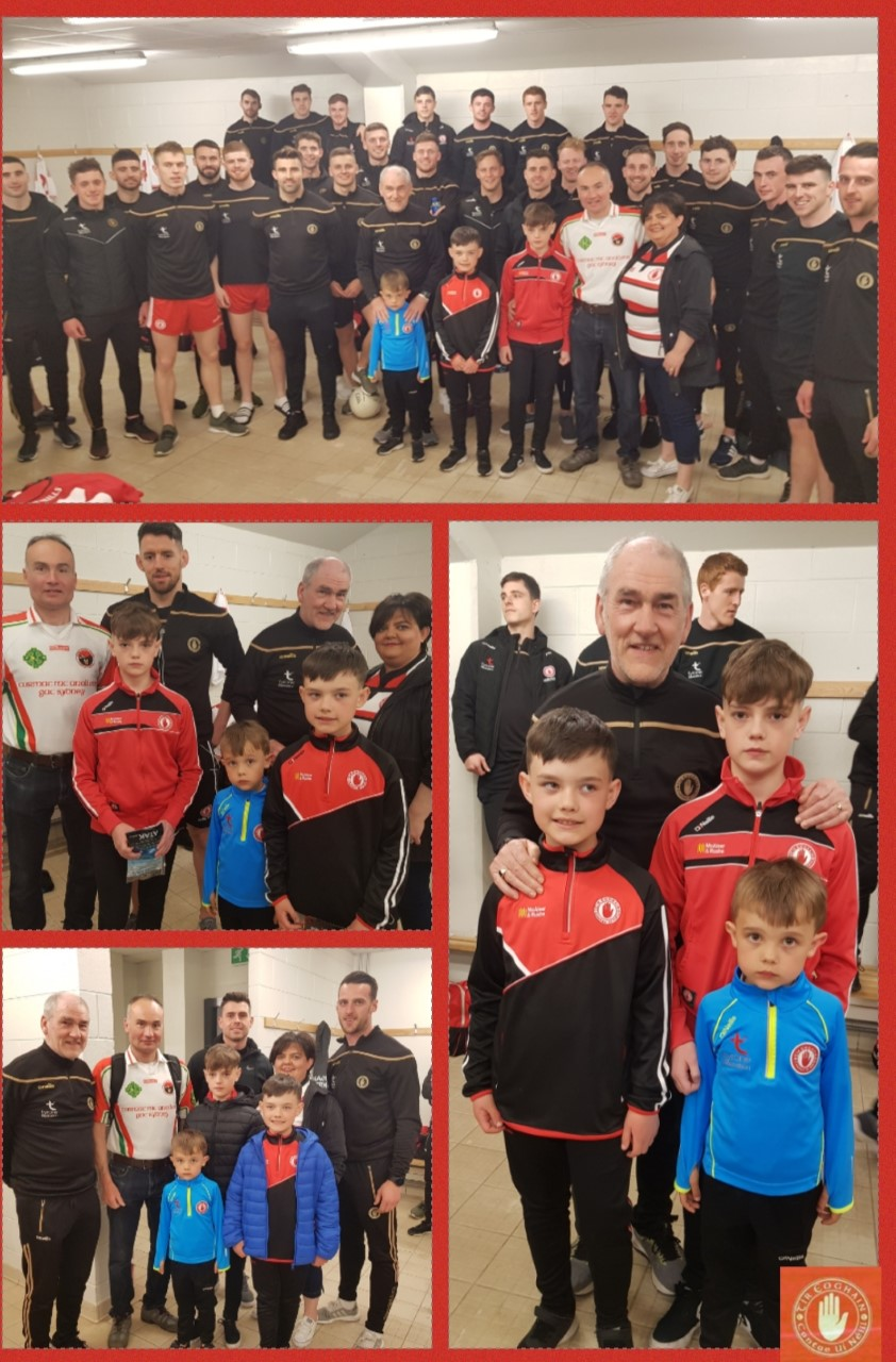 Currie Family Meet Tyrone Senior Team & Management