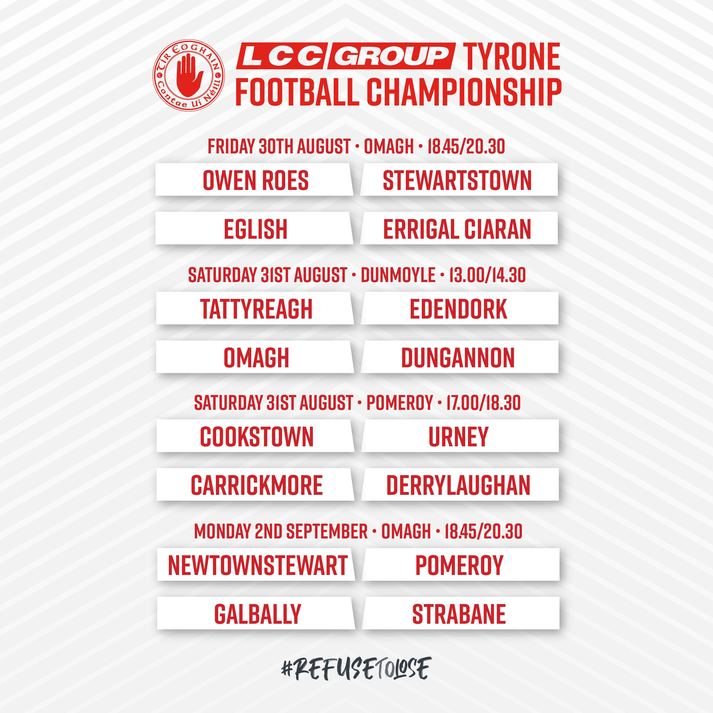 LCC Group Senior & Intermediate Championship Fixtures Confirmed