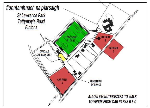 Parking Arrangements for tonight's match in Fintona