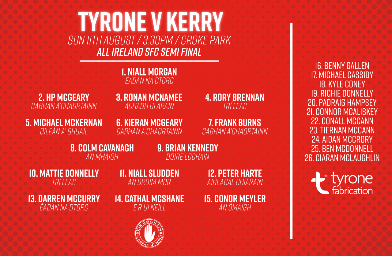 Tyrone Line Out