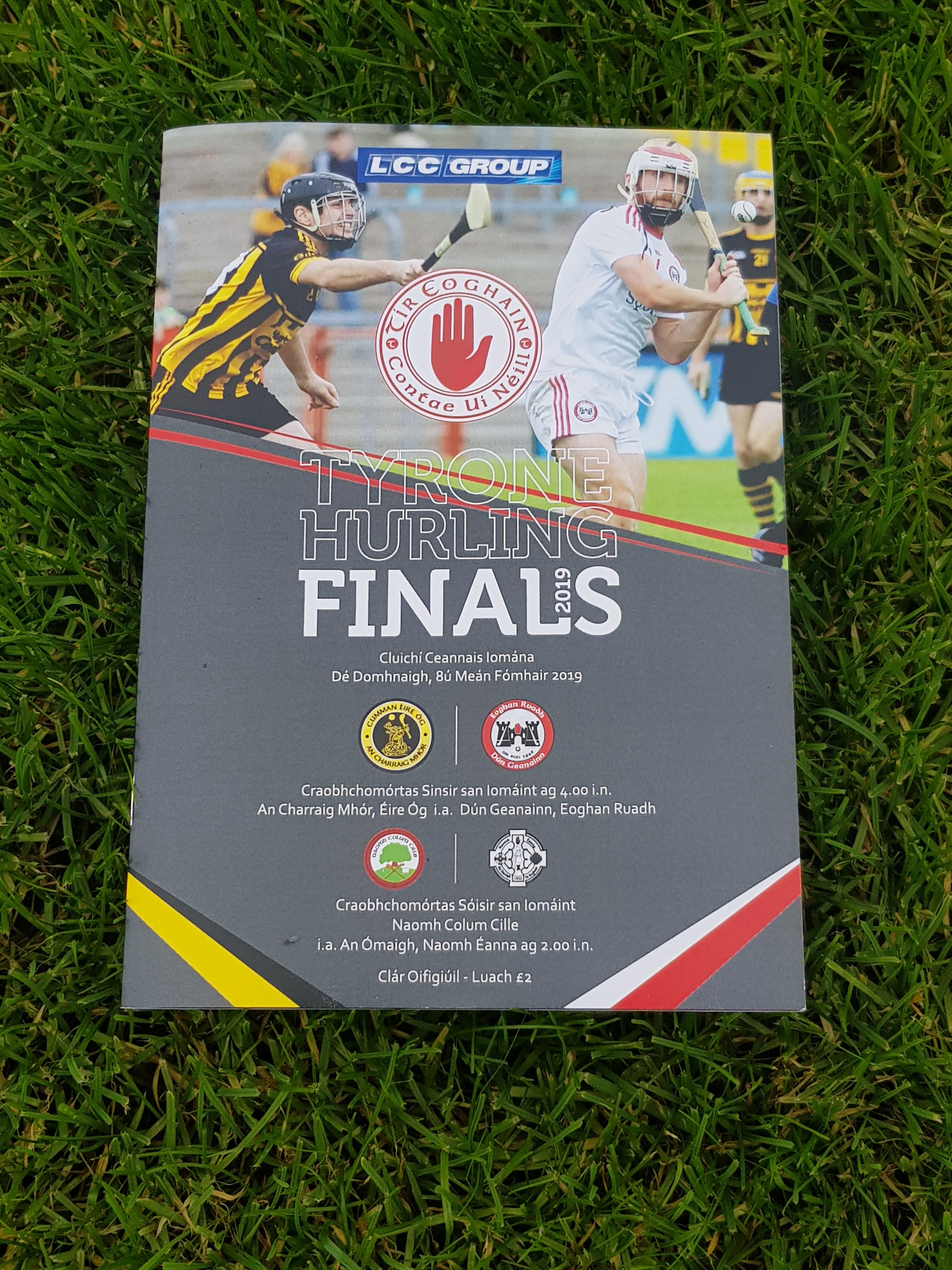 24 page Full Colour Souvenir Programme for LCC Group Senior & Junior Hurling County Finals