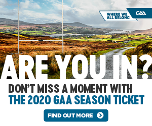 Buy your GAA 2020 season ticket today