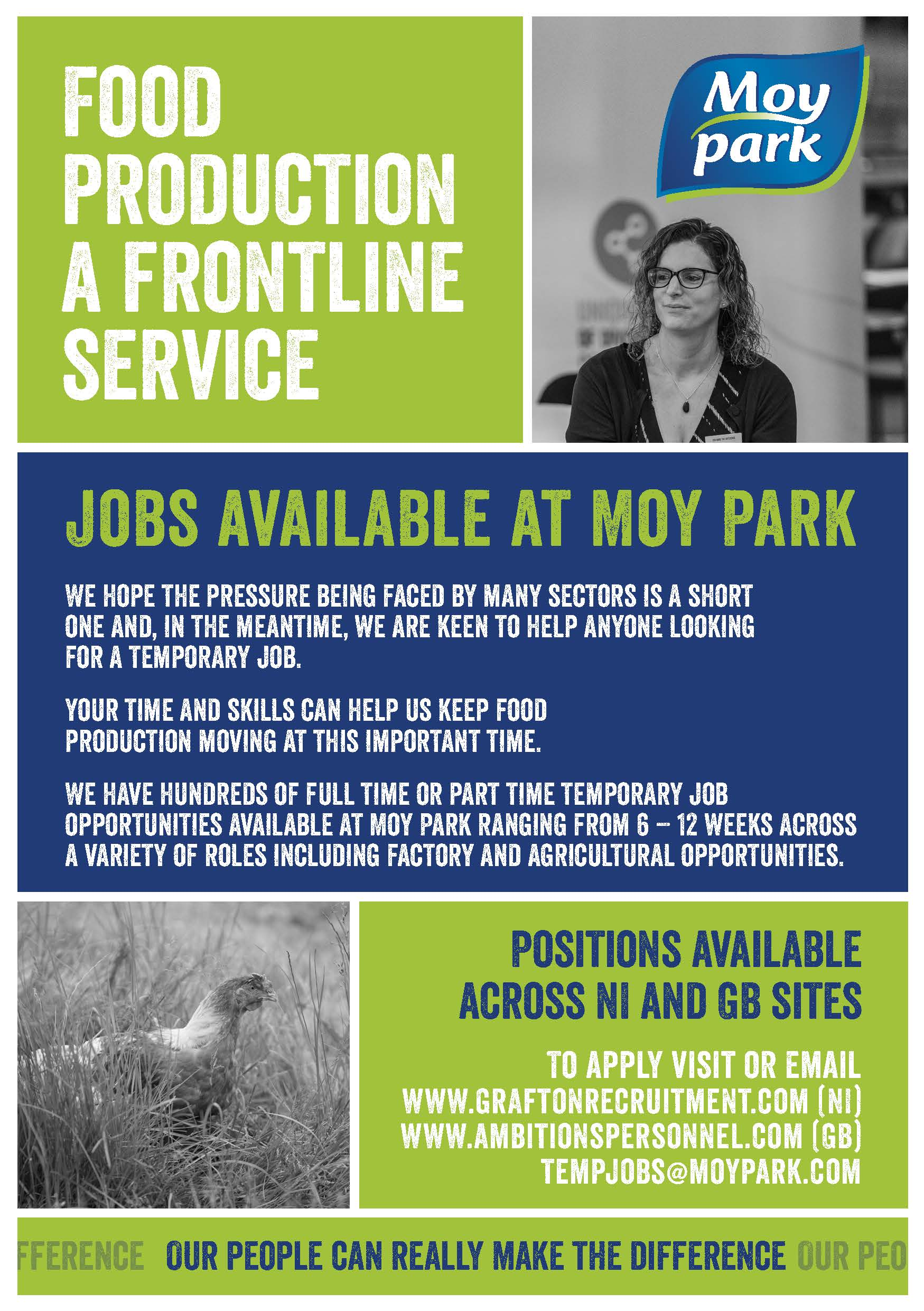 Temporary Employment with Moy Park