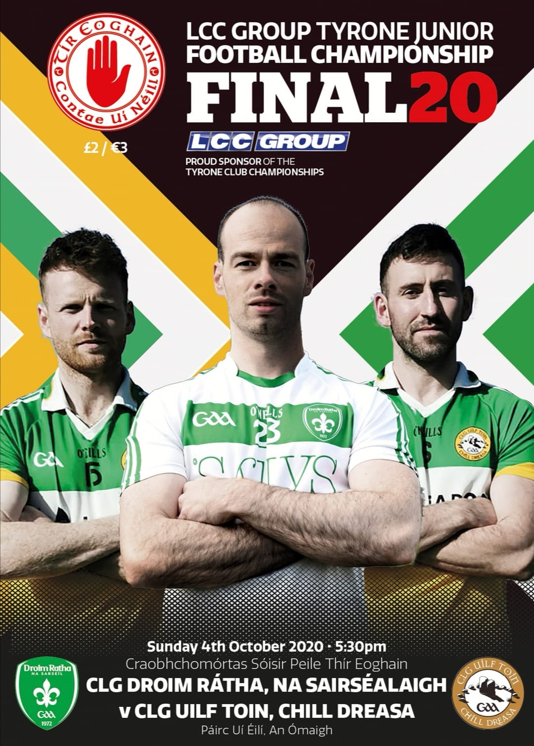 LCC Group Junior Championship Final online Digital Match Day Programme available See Link Details Below!